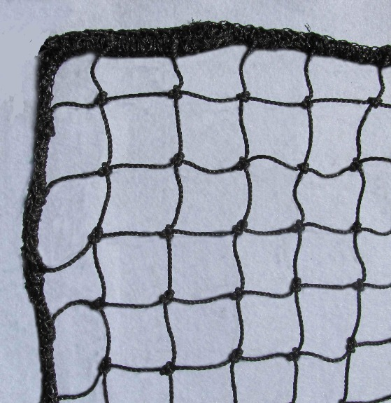"High-Impact Barrier Netting; 1-3/4"" Mesh Panels; Full Rope Border; In-Stock Nets 10', 12', and 14' High, and Up to 100' Long; Weather Resistant."