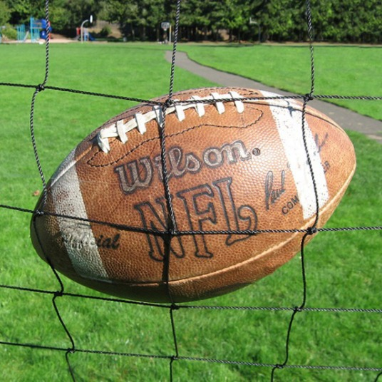 Football Barrier Nets; Outdoor #21 Medium-Impact and #42 High-Impact Netting; For Home, Football Fields and Stadiums, Recreational Parks, Schools.