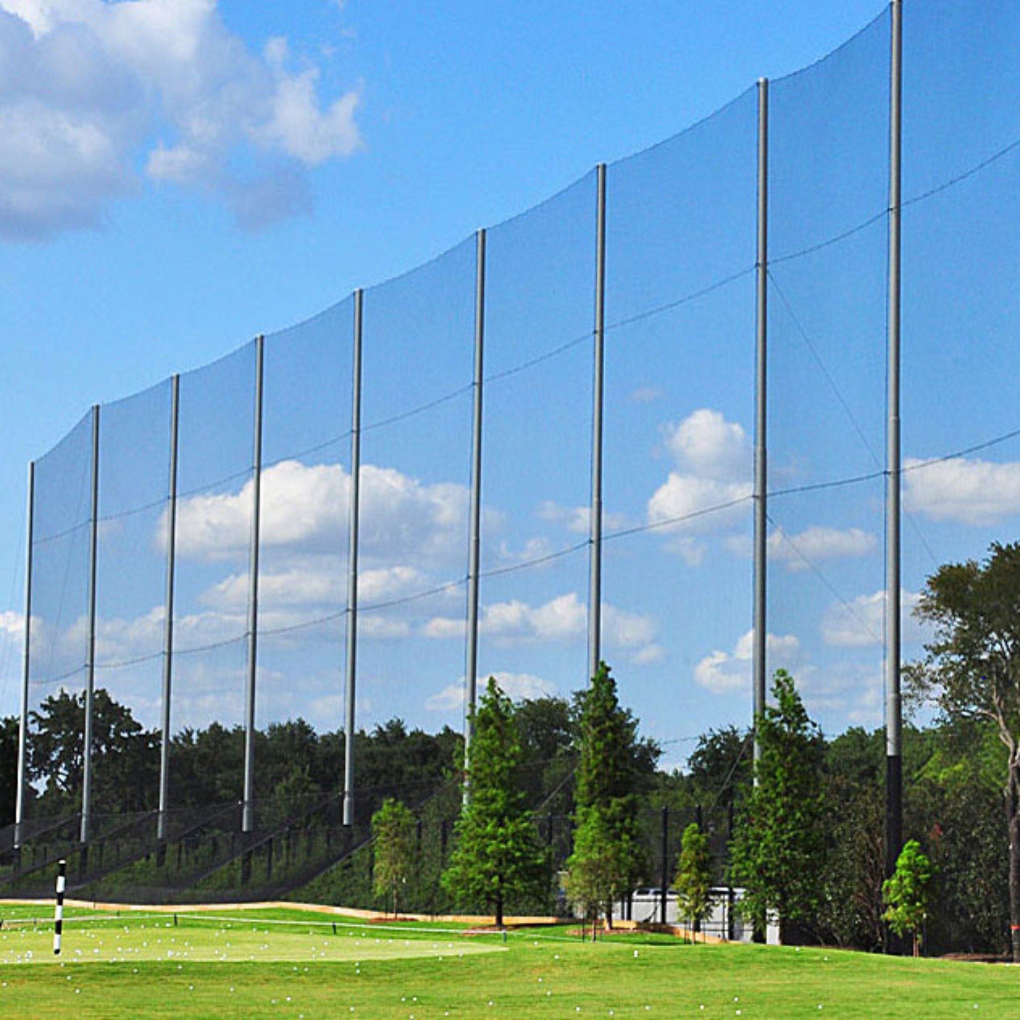 Golf Sports Netting in Many Stocked Sizes or Custom to Your Specs; Use for Barrier Nets at Home, Driving Ranges, Fairways, Golf Courses, & Indoor Golf Net.