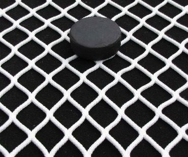 NHL Pro-Grade Hockey Goal Replacement Netting Is 100% Premium Knotless Nylon; High Tenacity Break Strength of 510 Pounds; Natural White.