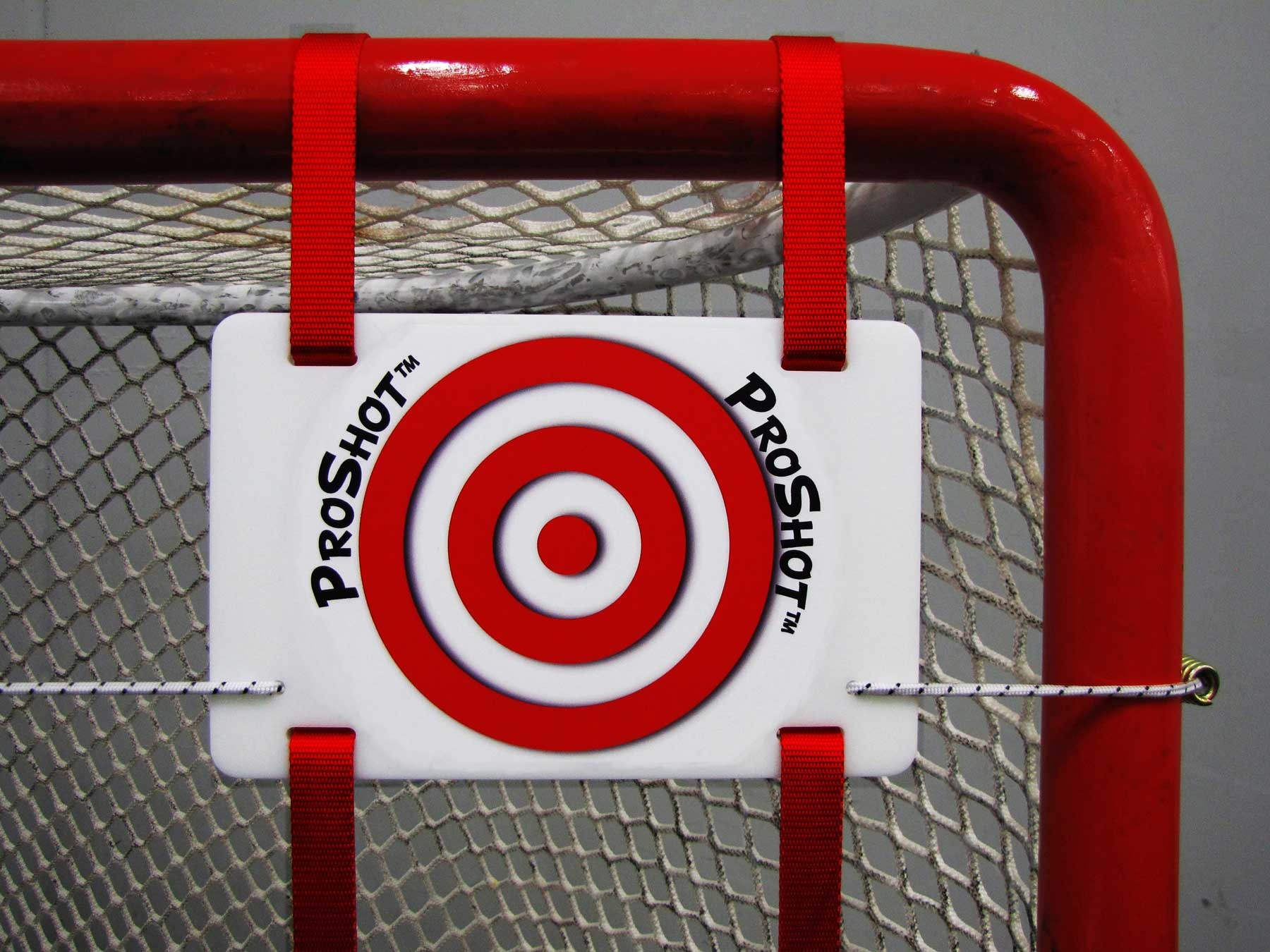 "Hockey Shooting Targets for Players 12 and Under; 1/4"" Thick High-Density Polyethylene with Adjustable 1"" Web Straps with Tensile Strength of 1000 lbs."