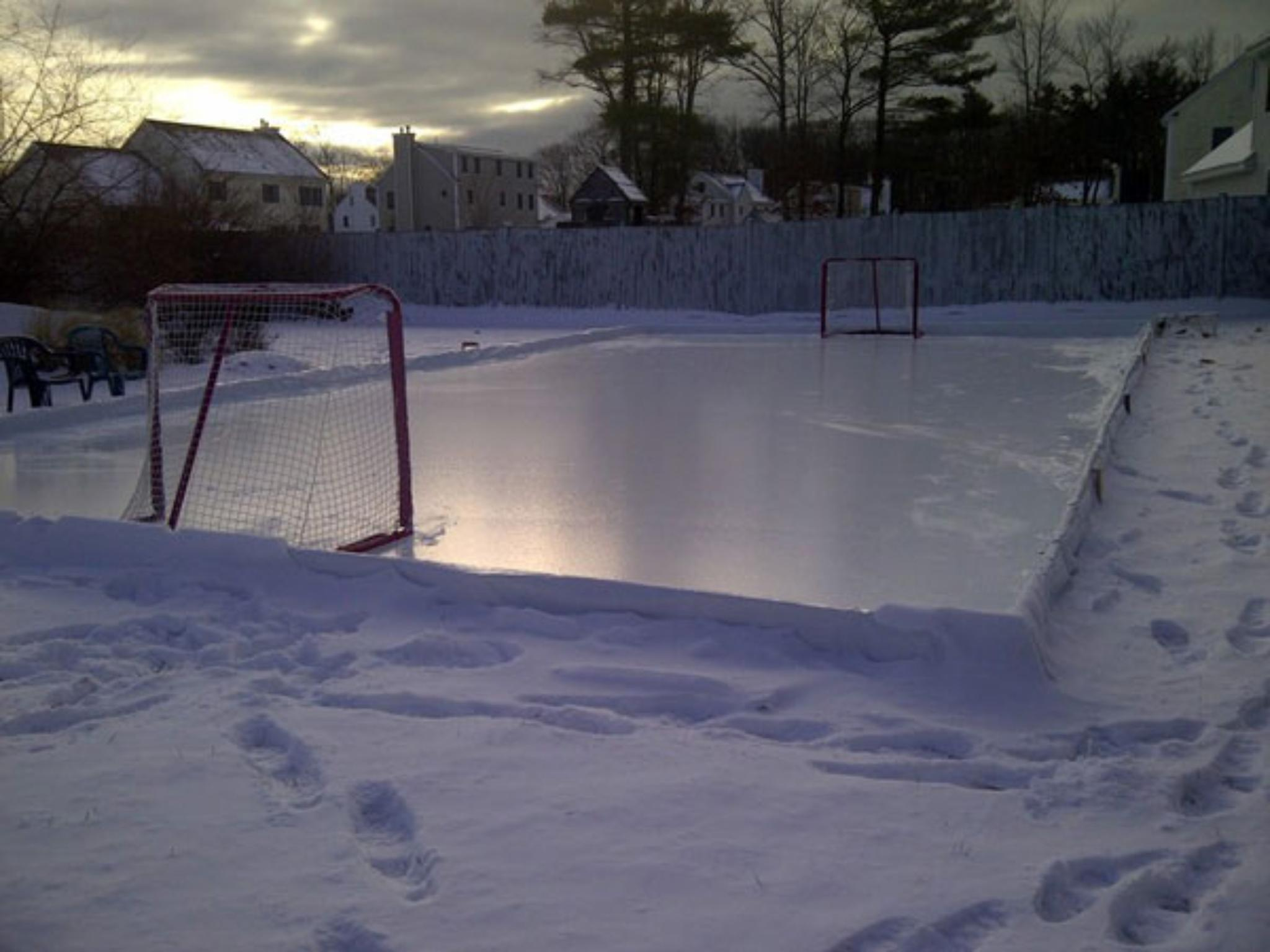 Rink Liner Consists of Two Top White Layers and One Bottom Black Layer, Bonded Together for 6mm Thickness. Multiple Sizes Available.
