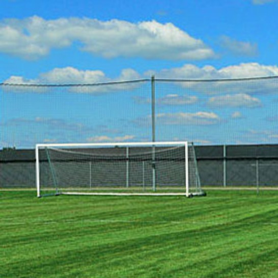 Soccer Barrier Nets; Outdoor #21 Medium-Impact and #42 High-Impact Netting; For Home, Parks, Schools, Behind the Soccer Goal, Along the Sidelines.