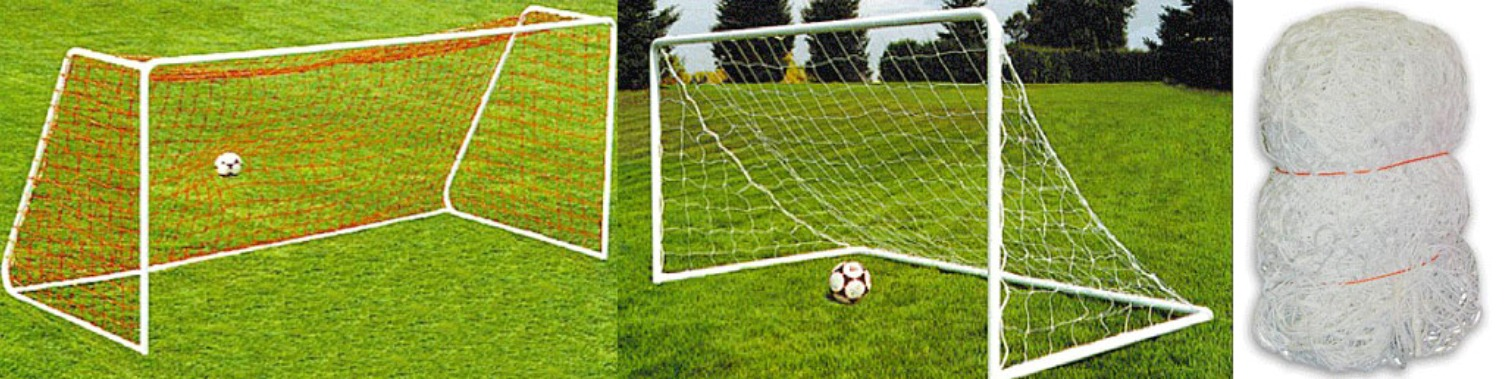 "Replacement Net for Steel Soccer Goal; White, Braided Polyethylene Soccer Netting with 4.5"" x 4.5"" Square Mesh."